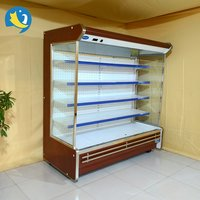 Trade Assurance supermarket vertical upright refrigerated display cooler open type display cooler for vegetables and fruits