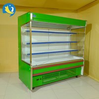 New design customized commercial produce display refrigerated cabinet convenience store display case