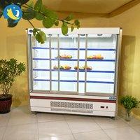 glass door multi deck display vertical chiller/ drink wall cases/ glass door display cooler/merchandiser