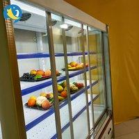 Glass Door Multi Deck Display Vertical Chiller