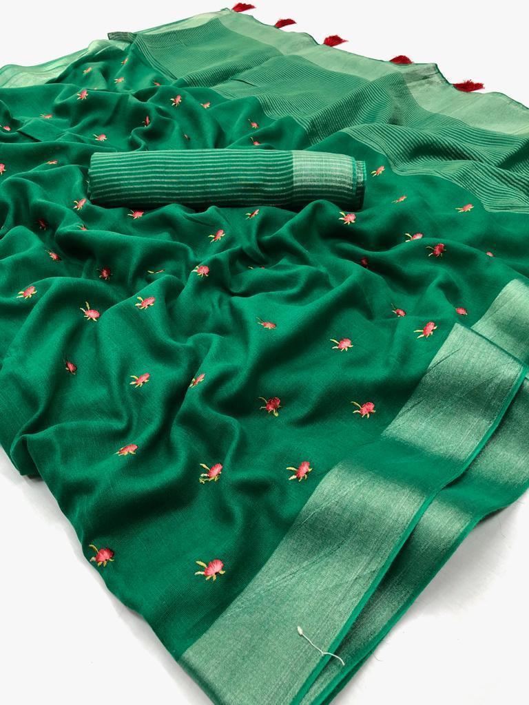 Kashmiri Designer Silk Saree