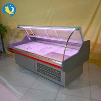 Factory price wholesale plug-in/remote seafood display cooler deli meat showcase cooler