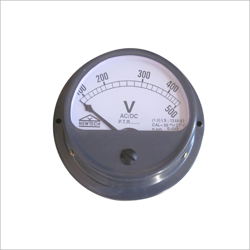 Round Projection Voltmeter