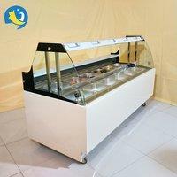 deli food display showcase freezer/glass food warmer display showcase/deli cooler showcase