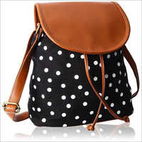 Ladies Dotted Leather Backpack