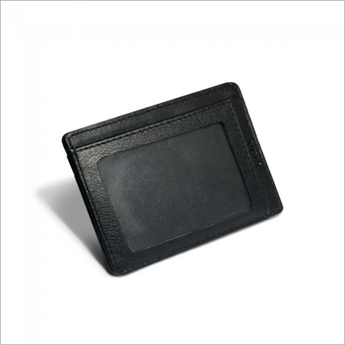 Leather Black Credit Card Holder