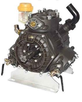 Three piston semi-hydraulic diaphragm pump