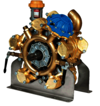 Heavy duty brass five piston semi-hydraulic diaphragm pump