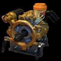 Heavy duty brass four piston semi-hydraulic diaphragm pump