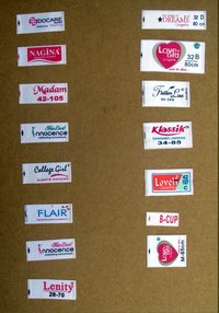 Printed Hosiery Label/ Bra Label