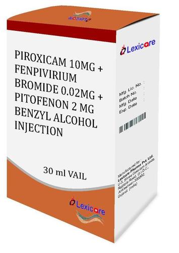 Piroxicam and Fenpivirium Bromide and Pitofenon and Benzyl Alcohol Injection