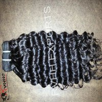 Machine Weft Natural Curly Human Hair