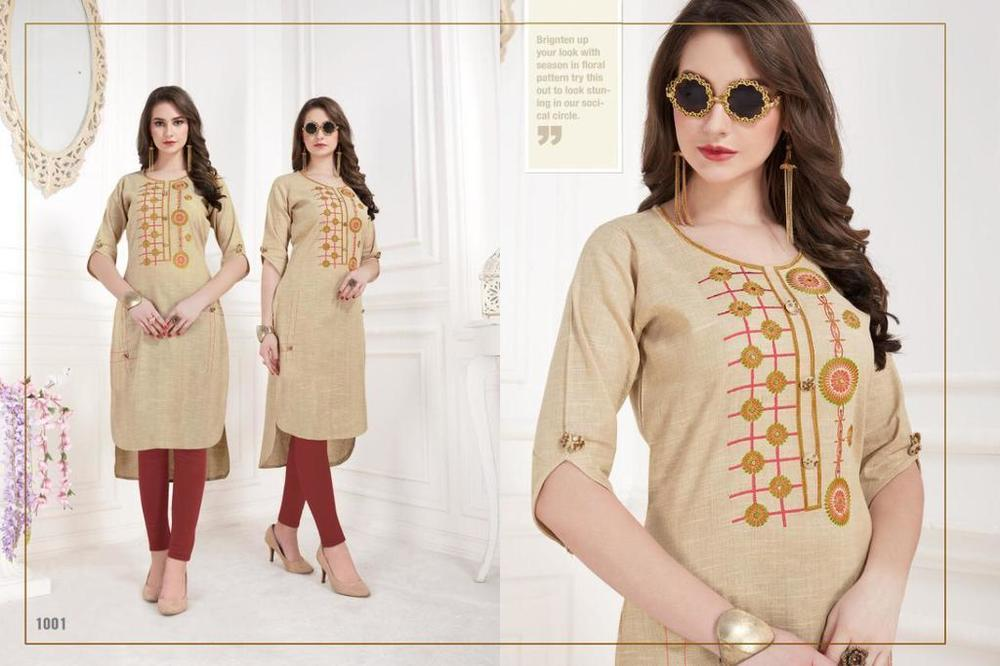 Fancy Embroidery Work Kurtis