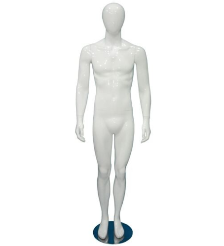 MALE OVAL PLASTIC MANNEQUIN