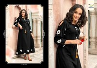 Fancy Rayon Anarkali Kurtis