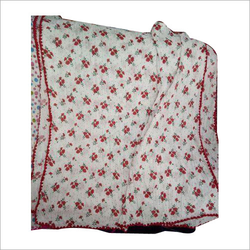 Ladies Cotton Print Samosa Lace Dupatta