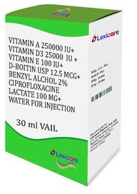 Vitamin A and Vitamin D3 and Viamin E and D-Biotin and Benzyl Alcohol Injection
