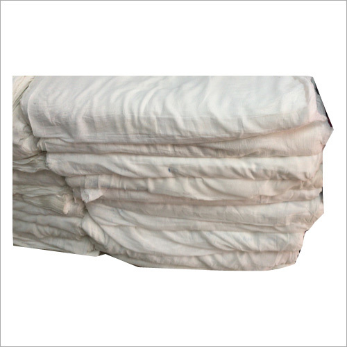 White Bleach Grey Handloom Fabric