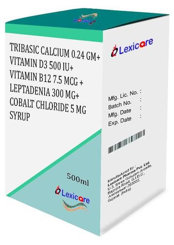 Tribasic Calsium and Vitamin D3 and Vitamin B12 and Leptadenia and Cobalt Chloride Syrup