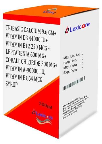 Tribasic  Calcium and Vitamin D3 and Vitamin B12 and Leptadenia   and Cobalt Chloride and Vitamin A and Vitamin E Syrup