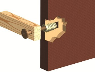 Wood Insert D-Nut