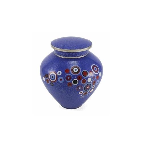 Blue Opulence Cloisonne Copper & Enamel Cremation Urn