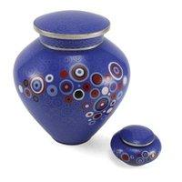 Blue Opulence Cloisonne Copper & Enamel Keepsake Cremation Urn
