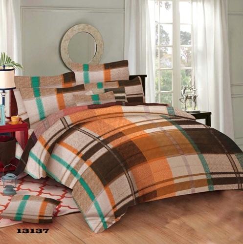 Checks design bed sheet bedsheets