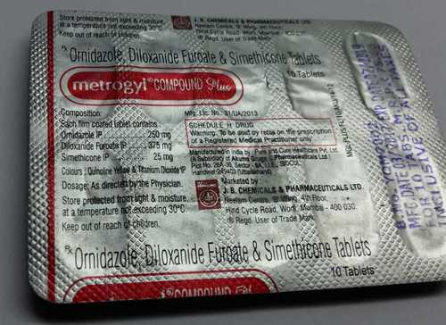 omidazole diloxanide furoate simethicone tablets