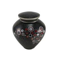 Onyx Opulence Cloisonne Copper & Enamel Cremation Urn