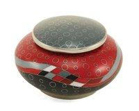 Red Opulence Cloisonne Copper & Enamel Keepsake Cremation Urn