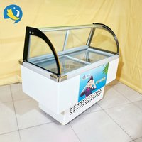 Ice cream dipping refrigeration cabinet table top ice cream cake refrigerator display freezer Ice Cream Showcase