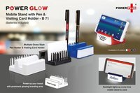 POWERGLOW MOBILE STAND WITH PEN AND VISITING CARD HOLDER (GRASS STYLE)