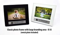 CLASSIC PHOTO FRAME WITH LARGE BRANDING AREA (WITH METAL PLATE)