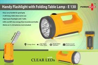 Handy Flashlight With Folding Table Lamp