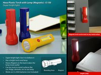 HEXA PLASTIC TORCH WITH LAMP (MAGNETIC)