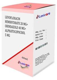 Levofloxacin Hemihydrate and Ornidazole and Alphatocophcrol Syrup