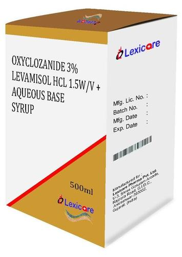 Oxyclozanide and Levamisol and Aqueous Base Syrup