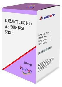 Closantel and Aqueous Base Syrup