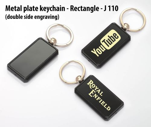 Metal Plate Keychain Rectangle