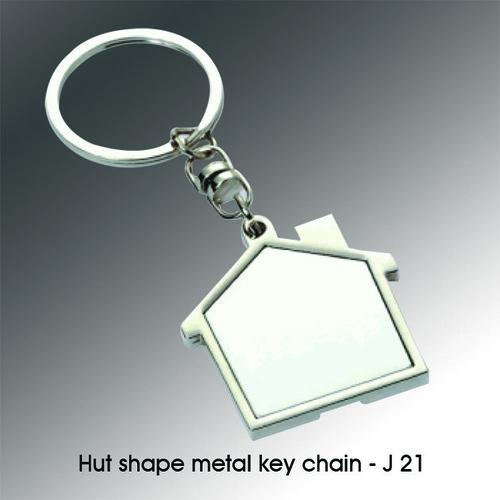 HUT SHAPE METAL KEYCHAIN