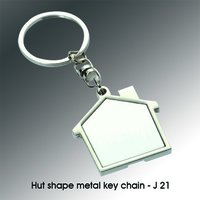 HUT SHAPE METAL KEYCHAIN