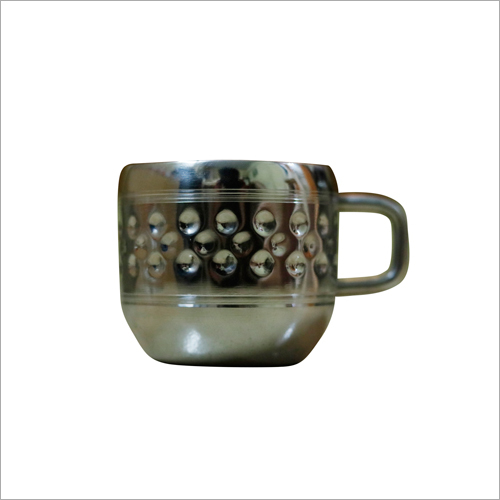 Hammered Stainless Steel Tea Cup