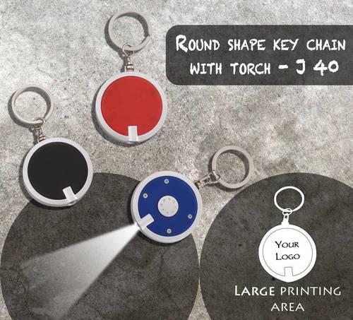 Torch Keychain Round