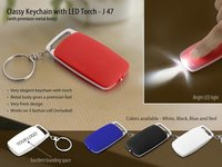 CLASSY KEYCHAIN WITH LED TORCH