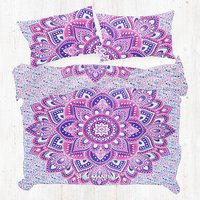 Pink Purple King Size Mandala Duvet Cover Quilt Cover Two Pillow Covers