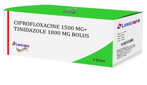 Ciprofloxacin and Tinidazole Bolus