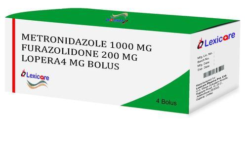 Metronidazole and Furazolidone and Lopera Bolus