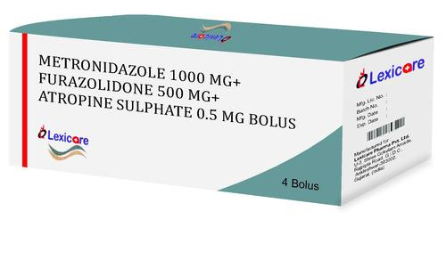 Metronidazole and Furazolidone and Atropine Sulphate Bolus