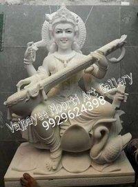 Saraswati Mata Marble Moorti